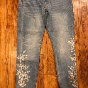 EUC WHBM embellished jeans, size 14P